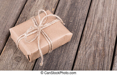 Gift Wrapped in Brown Paper - Gift wrapped in brown paper ...