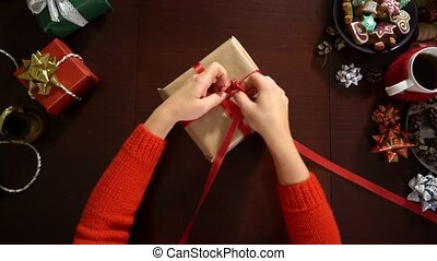 Gift wrapping for Christmas and New Year.