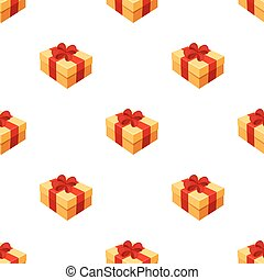 Gift wrapping for Easter. Easter single icon in cartoon style vector symbol stock illustration.