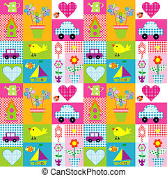 Gift wrapping paper background for kids - Gift wrapping...