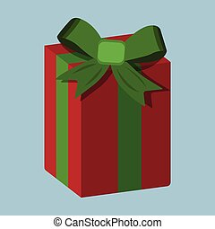 Gift XMas icon. Cartoon style. Vector Illustration for Christmas day