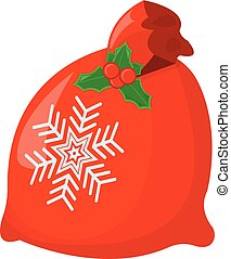 Gift XMas Isolated icon. Cartoon style. Vector Illustration for Christmas day