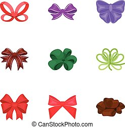 Giftbows, node, ornamentals, and other web icon in cartoon ...
