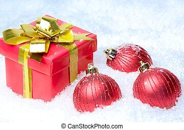 Giftbox and balls