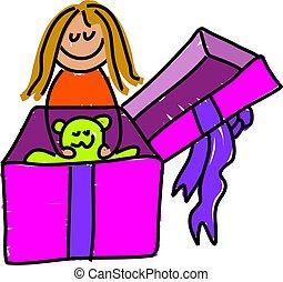 giftbox, geitje