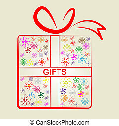 Giftbox Gifts Shows Giving Present And Celebrate - Gifts...