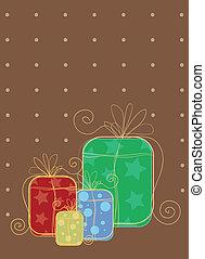 giftbox, hand-drawn, fond