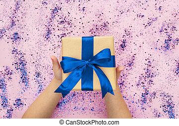 Giftbox isolated on white.