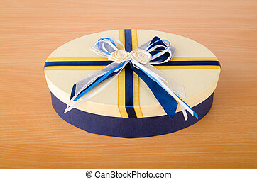 Giftbox on the wooden table