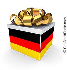 Giftbox with german flag.