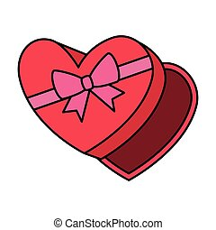 giftbox with heart shape