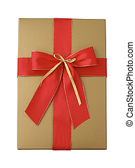 Giftbox with ribbon isolated