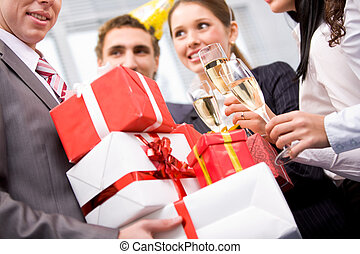 Giftboxes in hands