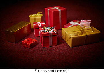 Giftboxes - Christmas presents in giftboxes