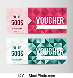 Giftcard - Modern giftcard templates with geometric...