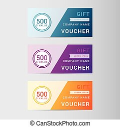 Giftcard - Modern giftcard templates with plain background