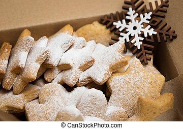 giftdoos, met, gember, koekjes