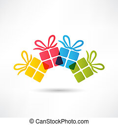 giftdoos, pictogram
