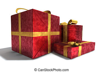 gifts - A 3D render