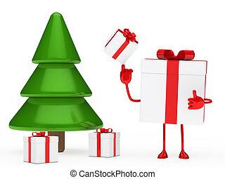 gifts box christmas tree