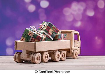 Gifts for Christmas and New Year in beautifully packed box...