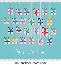gifts hang on twine advent calendar - gift boxes hang on...