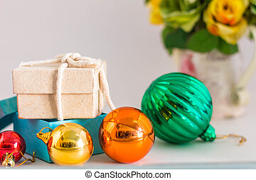 Gifts on a white background.