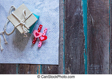 Gifts on background.
