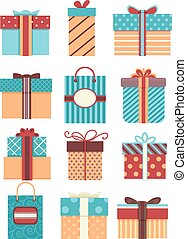 Gifts Patterns Flat