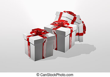 gifts presents 3d render christmas design