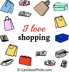Gifts, shopping bags