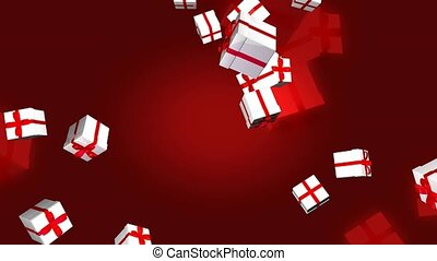 Gifts tossed in the air
