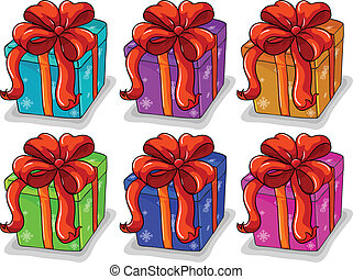 Gifts - Illustration of boxes of presents