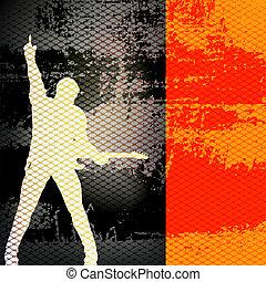 Gig Guide, Vector Background Illustration for Guitar Based Concerts and Music