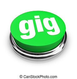 Gig Word Green Button Job Task Freelance Contract