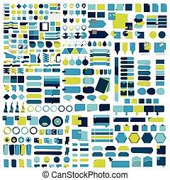 Giga set of infographics flat design elements, schemes,...