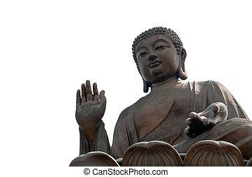 gigante, buddha, en, po, lin, monasterio