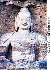 gigante, grottoes, shannxi, buddha, china, yungang