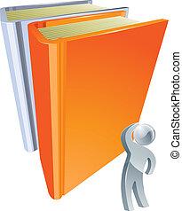 gigante, libro, educación, concepto