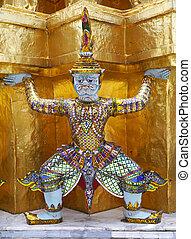 gigante, palazzo, kaeo, phra, reale, bangkok, -, grande, tailandia, wat