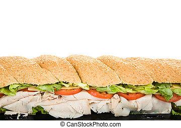 gigante, panino, bordo, sub