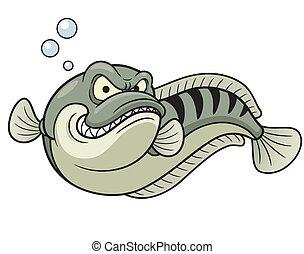 gigante, pez, snakehead