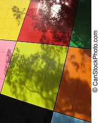 Gigantic Rubix Cube - Carlton Gardens, Melbourne, Australia