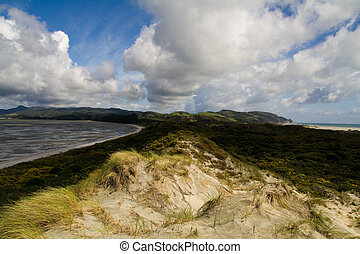 Gigantic Sand Dune - New Zealands Farewell Spit in perfect ...