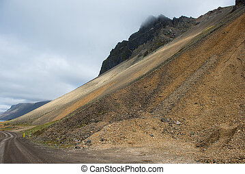 Gigantic scree slope, Vestrahorn mountain, Iceland