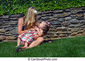 Giggle Time With Mommy - Little toddler girl giggles as her ...