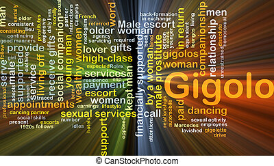 Gigolo background concept glowing