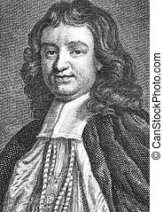 Gilbert Burnet (1643-1715) on engraving from the 1700s. Scottish theologian and historian, Bishop of Salisbury.