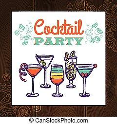 gilde, cocktail, plakat
