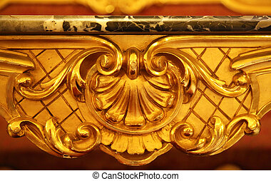 Gilded Baroque Console